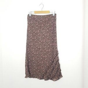Classic & Simple Brown Floral Maxi Skirt A-Line